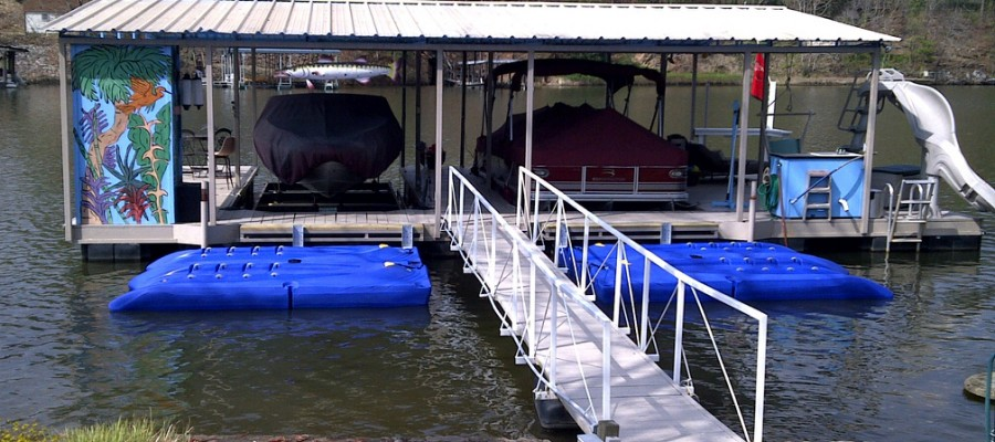 Boat Dock With Fun Activities
